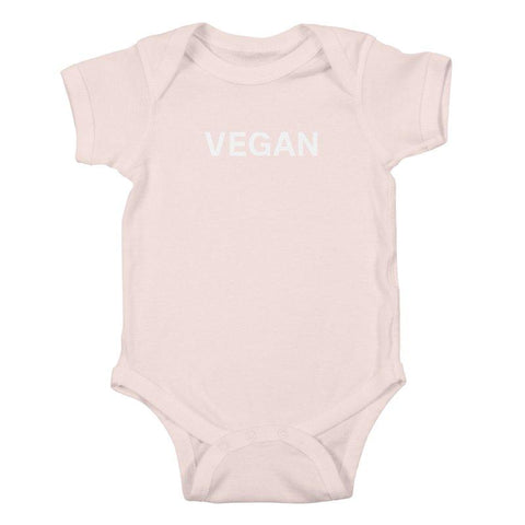 Goods by Unicorn Goods Vegan Baby Onesie Bodysuit in Soft Pink-Kids - Clothing-Goods by Unicorn Goods-Unicorn Goods