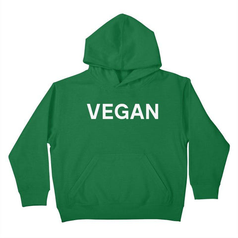 Goods by Unicorn Goods Vegan Kids Hoodie in Kelly Green-Kids - Clothing-Goods by Unicorn Goods-Unicorn Goods