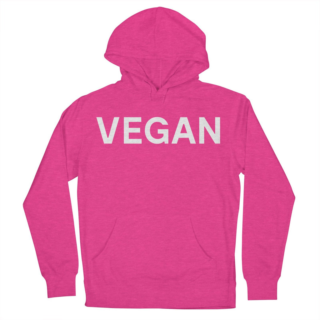 Goods by Unicorn Goods Vegan Men's Hoodie in Heather Heliconia-Mens Hoodie-Goods by Unicorn Goods-Unicorn Goods