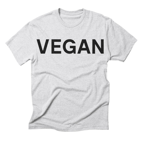 Goods by Unicorn Goods Vegan Men's T-shirt in Heather White-Mens T-shirt-Goods by Unicorn Goods-Unicorn Goods