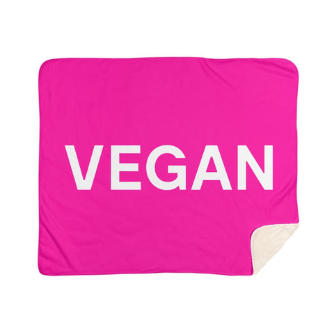 Goods by Unicorn Goods Vegan Sherpa Blanket in Hot Pink-Blanket-Goods by Unicorn Goods-Unicorn Goods