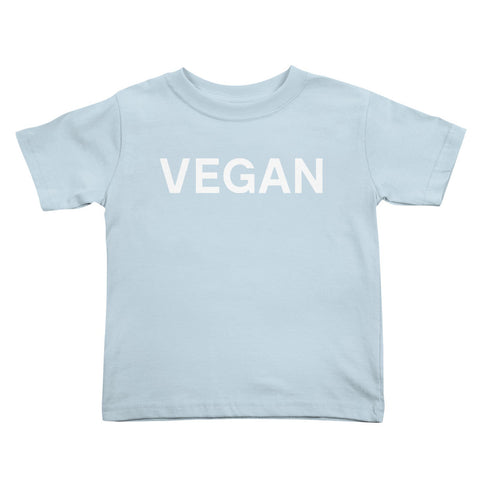 Goods by Unicorn Goods Vegan Toddler T-shirt in Baby Blue-Kids - Clothing-Goods by Unicorn Goods-Unicorn Goods