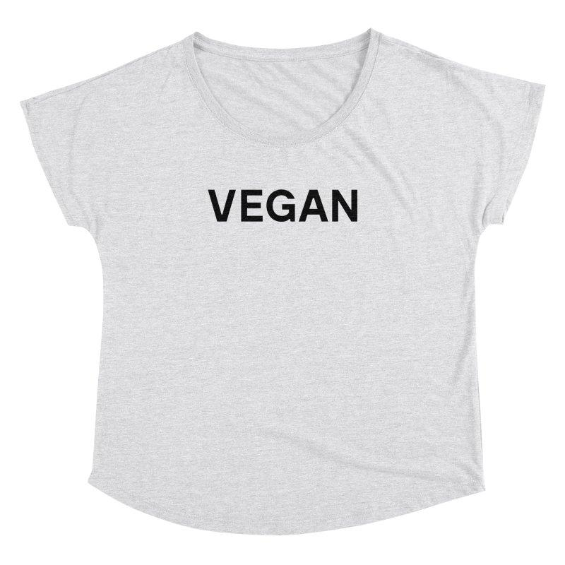 Goods by Unicorn Goods Vegan Women's Dolman T-shirt in Heather White-Womens Tank Top-Goods by Unicorn Goods-Unicorn Goods