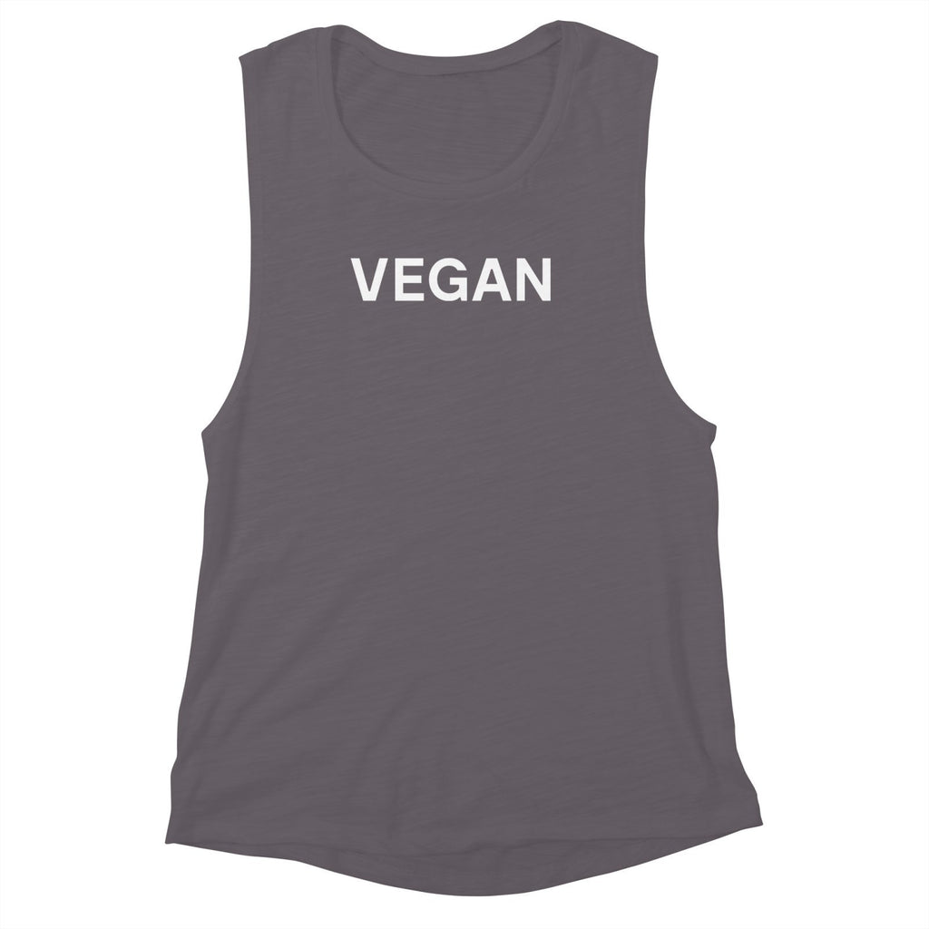 Goods by Unicorn Goods Vegan Women's Muscle Tank in Athletic Heather-Womens Tank Top-Goods by Unicorn Goods-Unicorn Goods