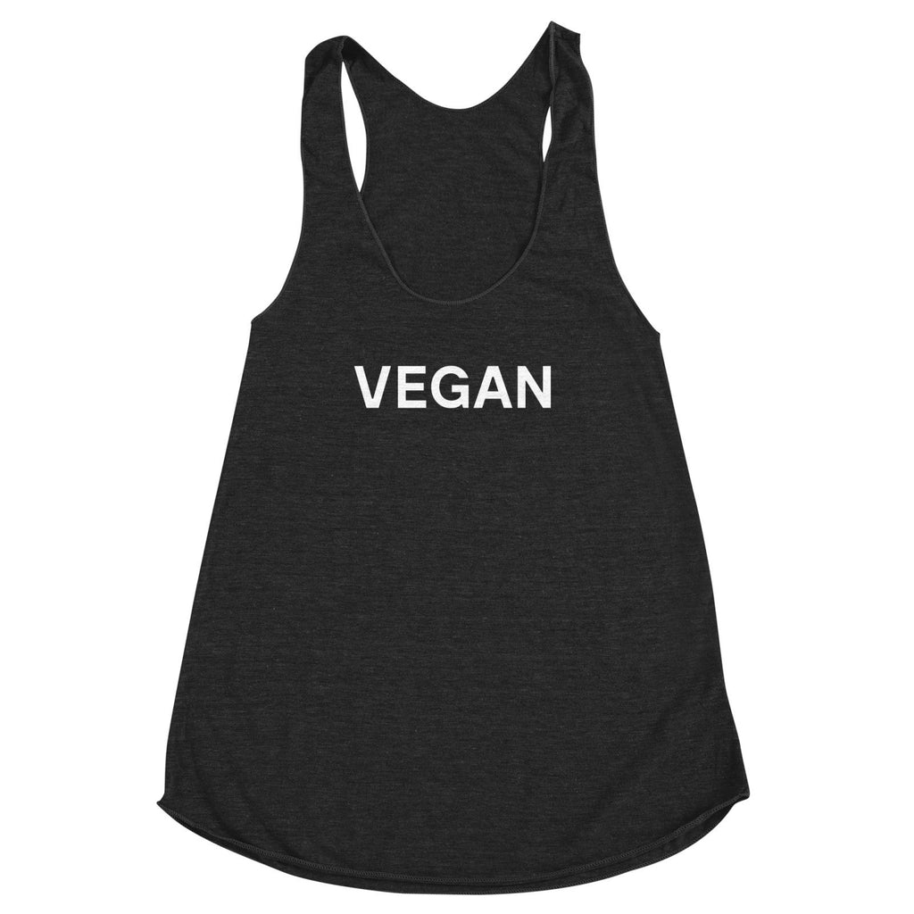 Goods by Unicorn Goods Vegan Women's Racerback Tank in Heather Onxy-Womens Tank Top-Goods by Unicorn Goods-Unicorn Goods