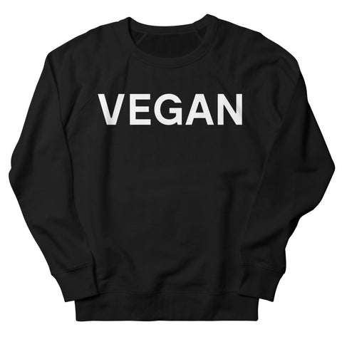 Goods by Unicorn Goods Vegan Women's Sweatshirt in Black-Womens Sweatshirt-Goods by Unicorn Goods-Unicorn Goods
