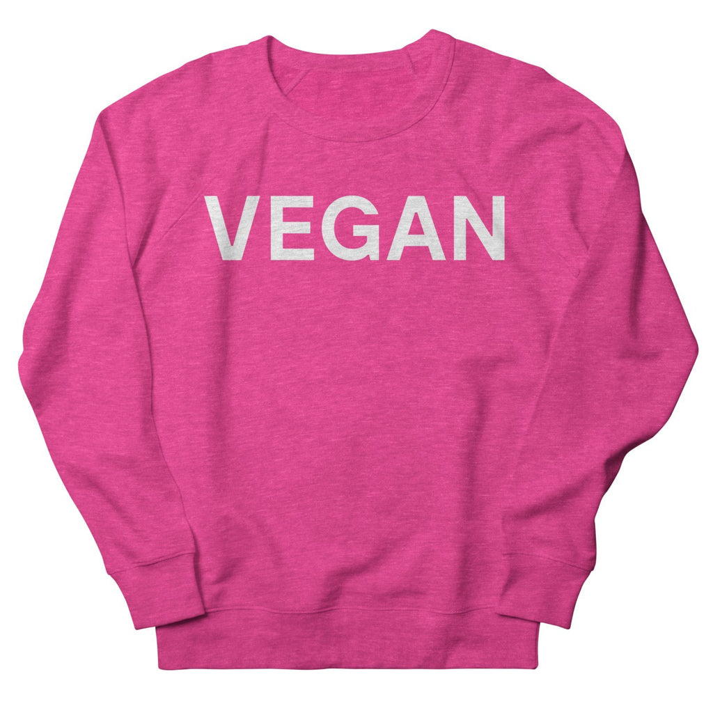 Goods by Unicorn Goods Vegan Women's Sweatshirt in Heather Heliconia-Womens Sweatshirt-Goods by Unicorn Goods-Unicorn Goods
