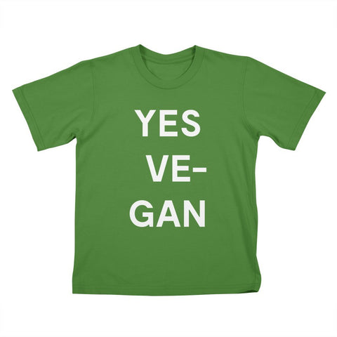 Goods by Unicorn Goods YES VE-GAN Kids T-shirt in Clover-Kids - Clothing-Goods by Unicorn Goods-Unicorn Goods