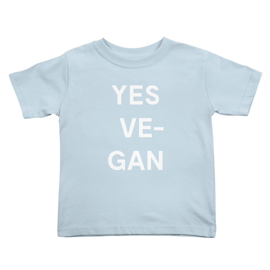 Goods by Unicorn Goods YES VE-GAN Toddler T-shirt in Baby Blue-Kids - Clothing-Goods by Unicorn Goods-Unicorn Goods