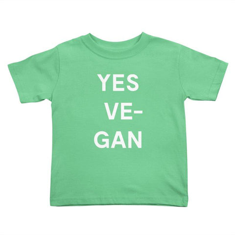 Goods by Unicorn Goods YES VE-GAN Toddler T-shirt in Grass-Kids - Clothing-Goods by Unicorn Goods-Unicorn Goods