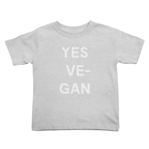 Goods by Unicorn Goods YES VE-GAN Toddler T-shirt in Heather Grey-Kids - Clothing-Goods by Unicorn Goods-Unicorn Goods