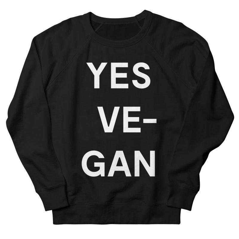 Goods by Unicorn Goods YES VE-GAN Women's Sweatshirt in Black-Womens Sweatshirt-Goods by Unicorn Goods-Unicorn Goods