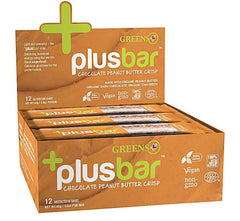 Greens Plus +plusbar - Chocolate Peanut Butter Chia Crisp (box of 12)-Food - Snack-Food-Unicorn Goods