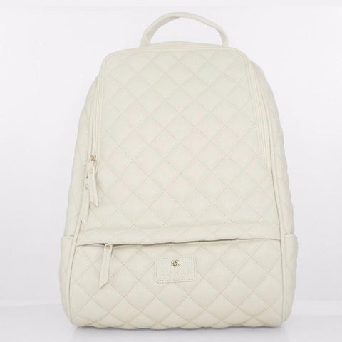 Gunas Cougar Quilted Backpack in Off White-Womens Backpack-Gunas-Unicorn Goods