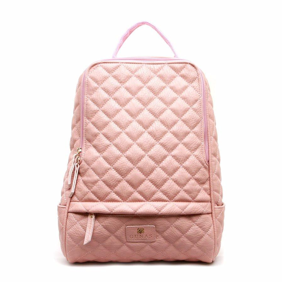 Gunas Cougar Quilted Backpack in Peach-Womens Backpack-Gunas-Unicorn Goods