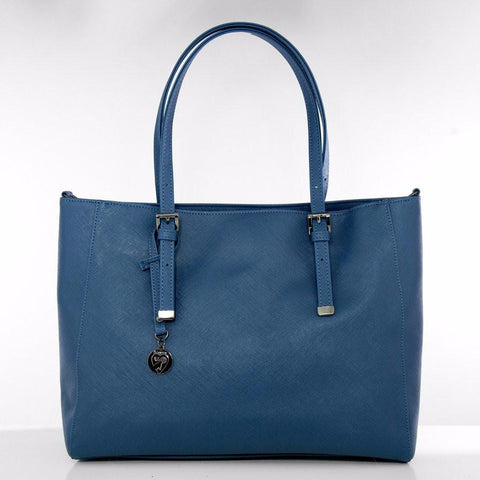Gunas Kangaroo Saffiano in Blue-Womens Tote-Gunas-Unicorn Goods