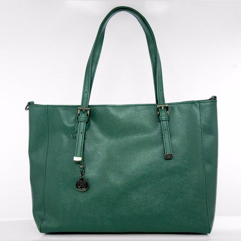 Gunas Kangaroo Saffiano in Green-Womens Tote-Gunas-Unicorn Goods