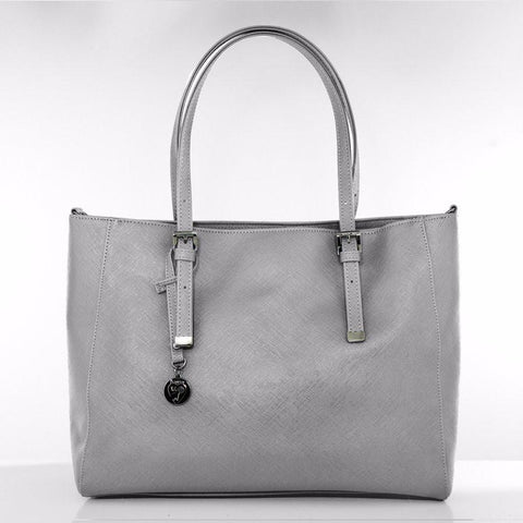 Gunas Kangaroo Saffiano in Grey-Womens Tote-Gunas-Unicorn Goods