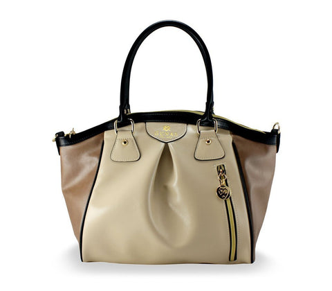 Gunas Madison Bag in Beige Trio-Womens Purse-Gunas-Unicorn Goods