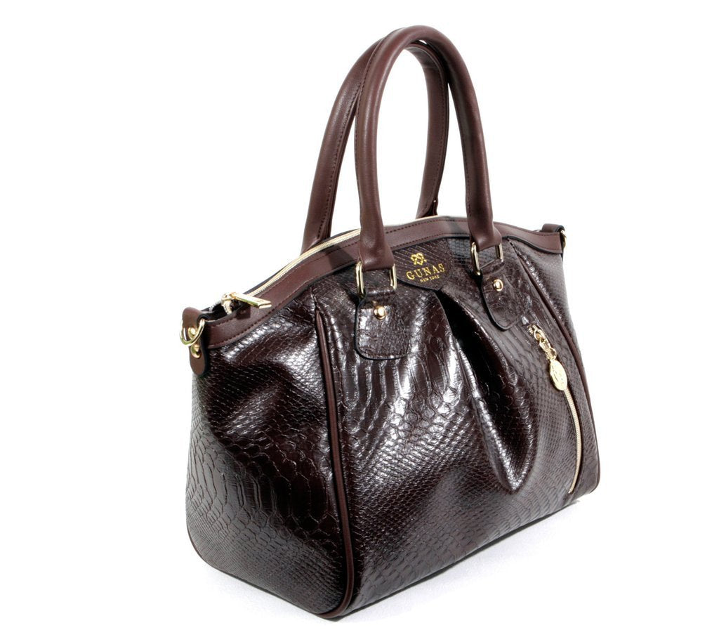 Gunas Madison Bag in Chocolate-Womens Purse-Gunas-Unicorn Goods