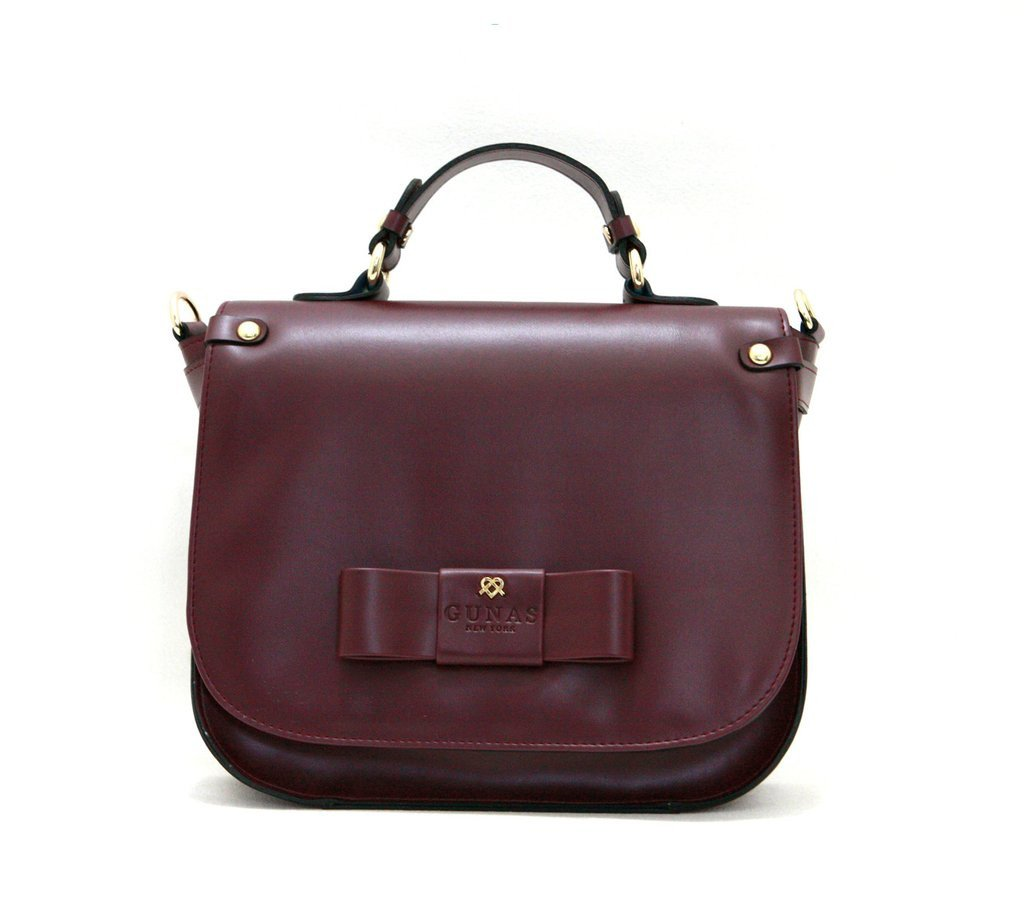 Gunas Ridley Crossbody Bag in Burgandy-Womens Satchel-Gunas-Unicorn Goods