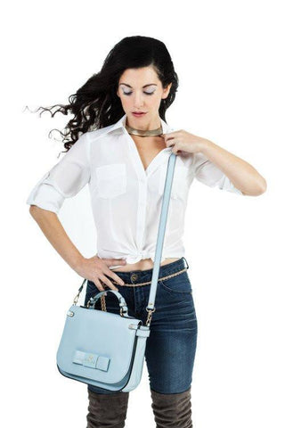 Gunas Ridley Crossbody Bag in Light Blue-Womens Satchel-Gunas-Unicorn Goods