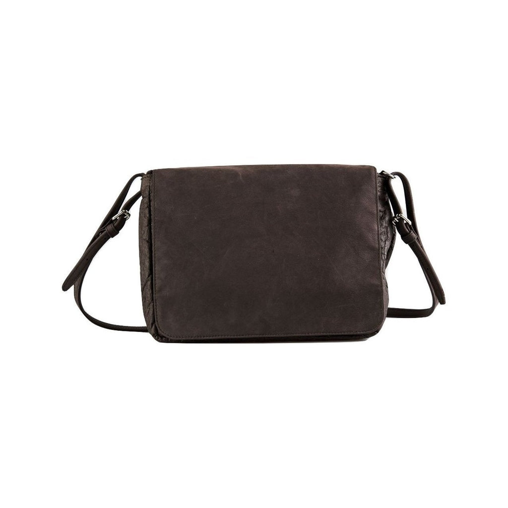 Ina Koelln Crossbody Saddlebag in Brown Piñatex-Unisex Messenger Bag-Ina Koelln-Unicorn Goods