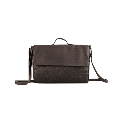 Ina Koelln Satchel in Brown Piñatex-Unisex Messenger Bag-Ina Koelln-Unicorn Goods