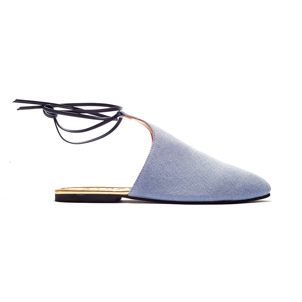Jents Ibiza Denim Slide Ons-Womens Flats-Jents-Unicorn Goods