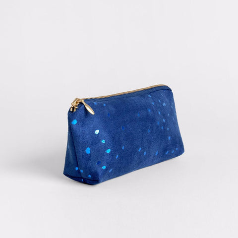 Lee Coren Amped Zip Pouch in Confetti Blue-Womens Utility Bag-Lee Coren-Unicorn Goods