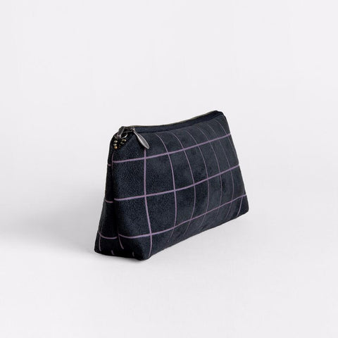 Lee Coren Amped Zip Pouch in Grid-Womens Utility Bag-Lee Coren-Unicorn Goods