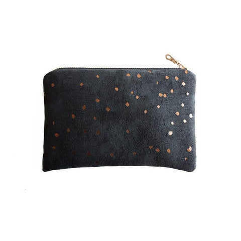 Lee Coren Black & Bronze Confetti Portofino Pouch-Womens Utility Bag-Lee Coren-Unicorn Goods