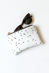 Lee Coren Black & White Confetti Portofino Pouch-Womens Utility Bag-Lee Coren-Unicorn Goods