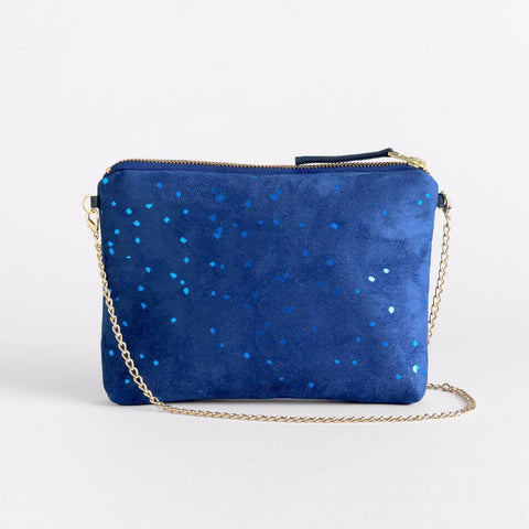 Lee Coren Blue Confetti Dulce Clutch & Chain-Womens Clutch-Lee Coren-Unicorn Goods