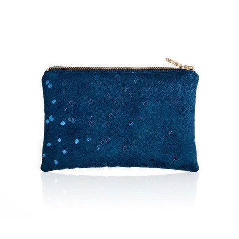 Lee Coren Blue Confetti Portofino Pouch-Womens Utility Bag-Lee Coren-Unicorn Goods