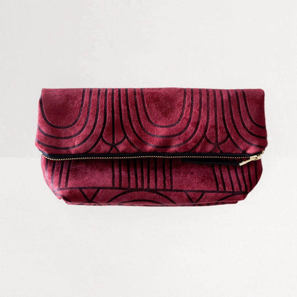 Lee Coren Burgundy Arches Everything Fold Over Clutch-Womens Clutch-Lee Coren-Unicorn Goods