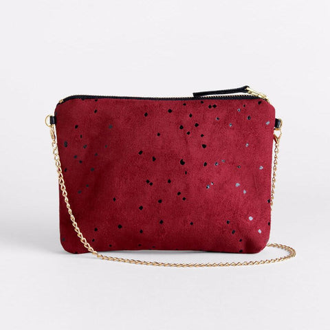 Lee Coren Burgundy Confetti Dulce Clutch & Chain-Womens Clutch-Lee Coren-Unicorn Goods