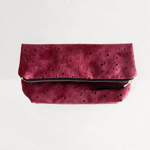 Lee Coren Burgundy Confetti Everything Fold Over Clutch-Womens Clutch-Lee Coren-Unicorn Goods