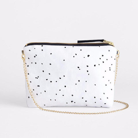 Lee Coren Confetti Dulce Clutch in White-Womens Clutch-Lee Coren-Unicorn Goods