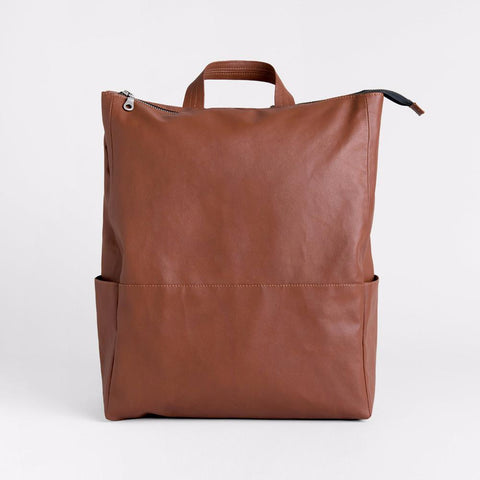 Lee Coren Metropolitan Backpack in Brown-Womens Backpack-Lee Coren-Unicorn Goods