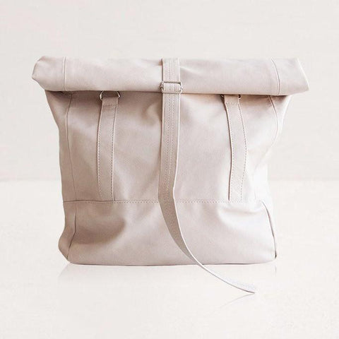 Lee Coren Small Nude Wanderlust Rolltop Backpack-Unisex Backpack-Lee Coren-Unicorn Goods