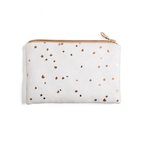 Lee Coren White & Bronze Confetti Portofino Pouch-Womens Utility Bag-Lee Coren-Unicorn Goods
