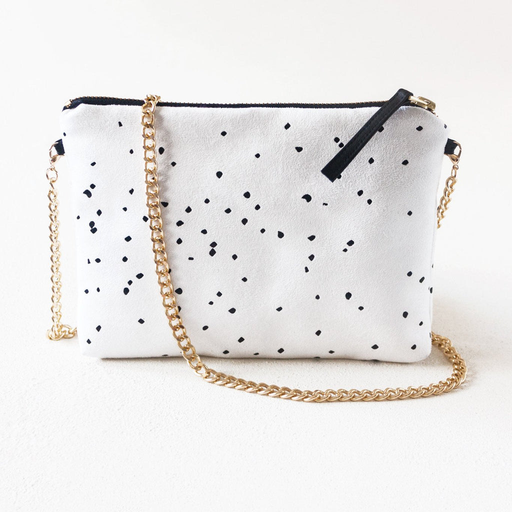 Lee Coren White Dulce Clutch & Chain-Womens Clutch-Lee Coren-Unicorn Goods