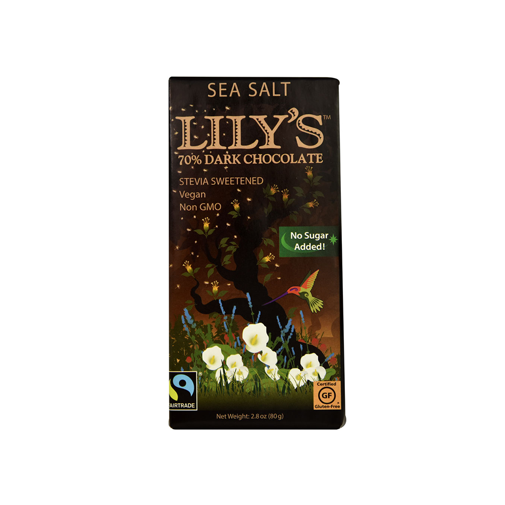 Lily's 70% Dark Chocolate with Stevia and Sea Salt-Chocolate-Food-Unicorn Goods