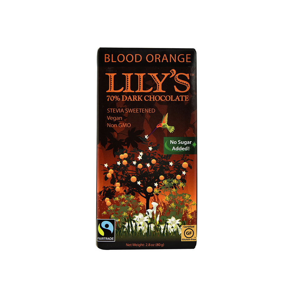 Lily's 70% Extra Dark Chocolate with Blood Orange-Chocolate-Food-Unicorn Goods