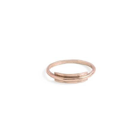 Line + Surface Ring in Rose Gold-Womens Ring-Nois-Unicorn Goods