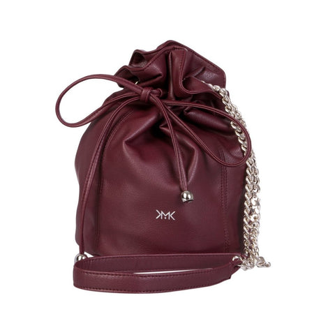Magnethik Bucket Bag in Burgundy-Womens Satchel-Magnethik-Unicorn Goods