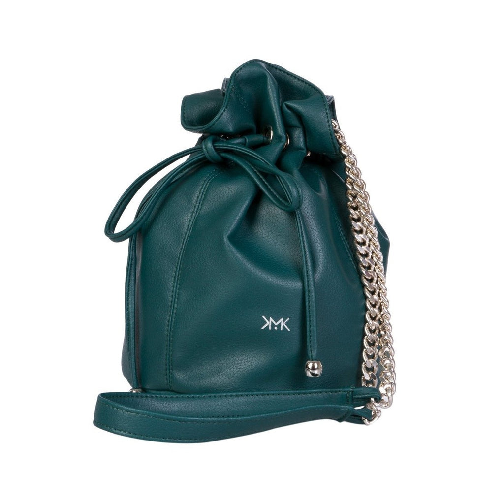 Magnethik Bucket Bag in Dark Green-Womens Satchel-Magnethik-Unicorn Goods