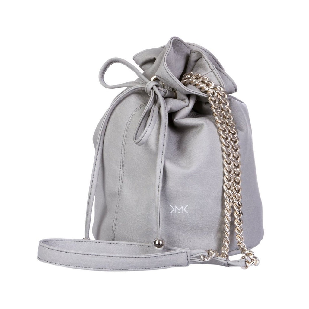 Magnethik Bucket Bag in Grey-Womens Satchel-Magnethik-Unicorn Goods