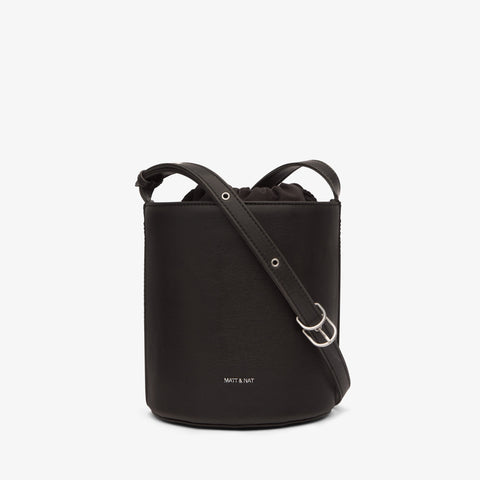 Matt & Nat Bini Bucket Bag in Black-Womens Crossbody-Matt & Nat-Unicorn Goods